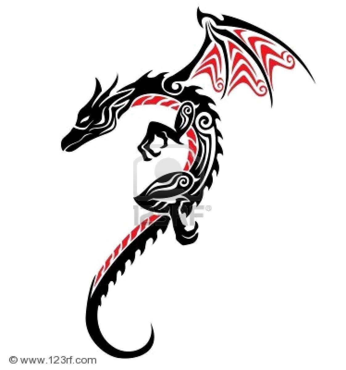Dragon Head Tribal Tattoo Designs free image