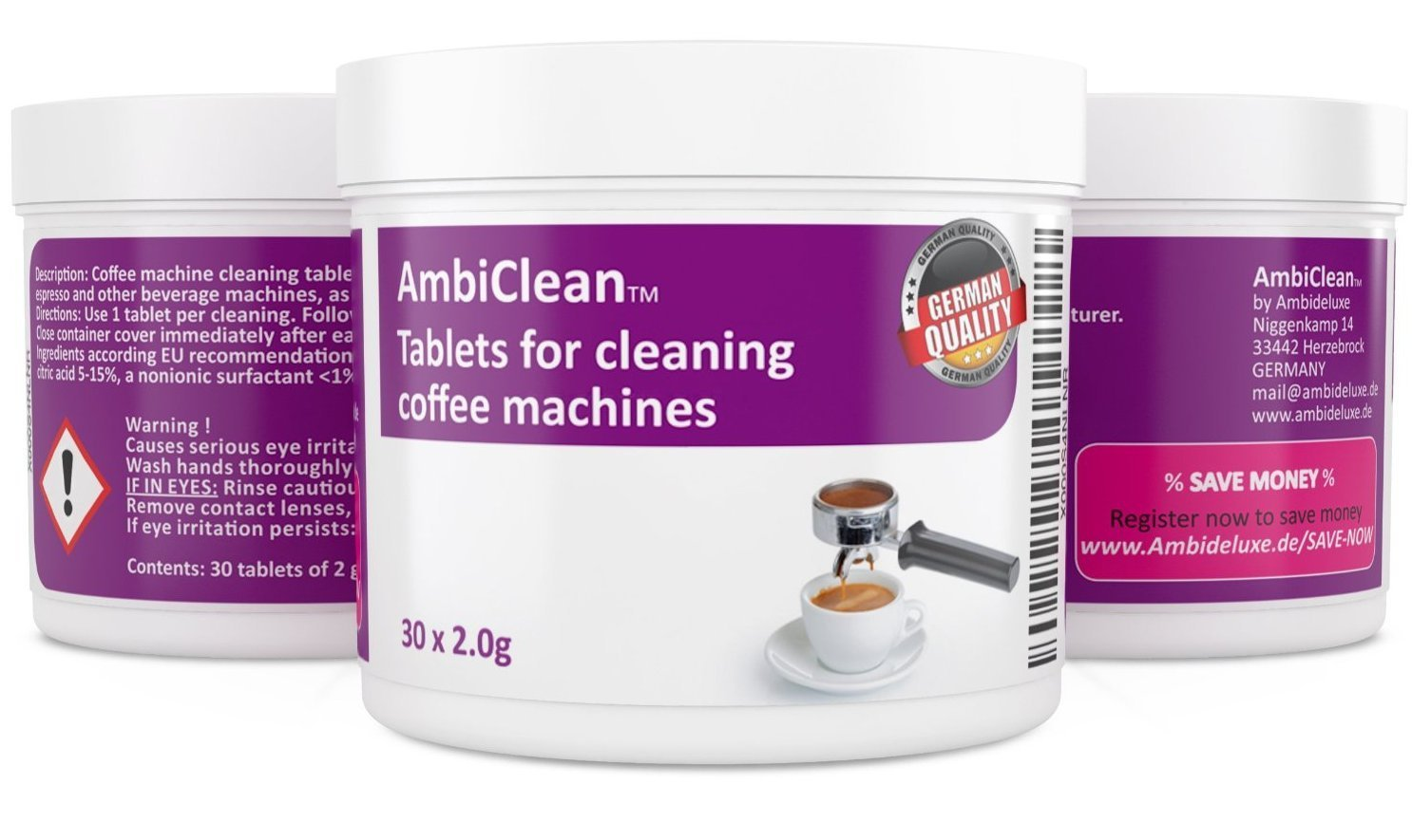 Ambiclean Easy To Use Coffee Machine And Espresso Machine