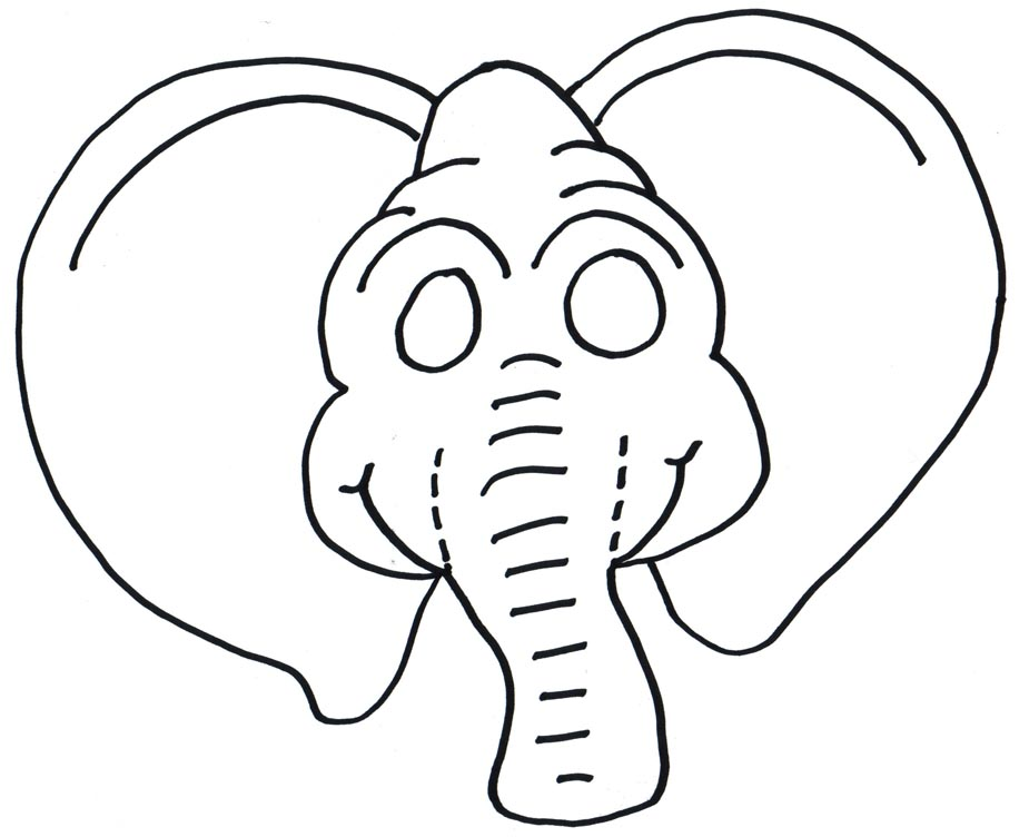 graphic about Elephant Template Printable known as Printable Elephant Mask Template free of charge picture