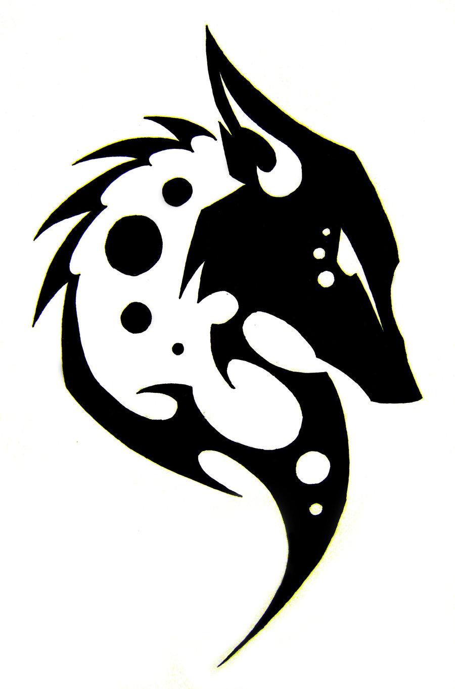 Wolf Head Tribal Tattoo Designs Free Image