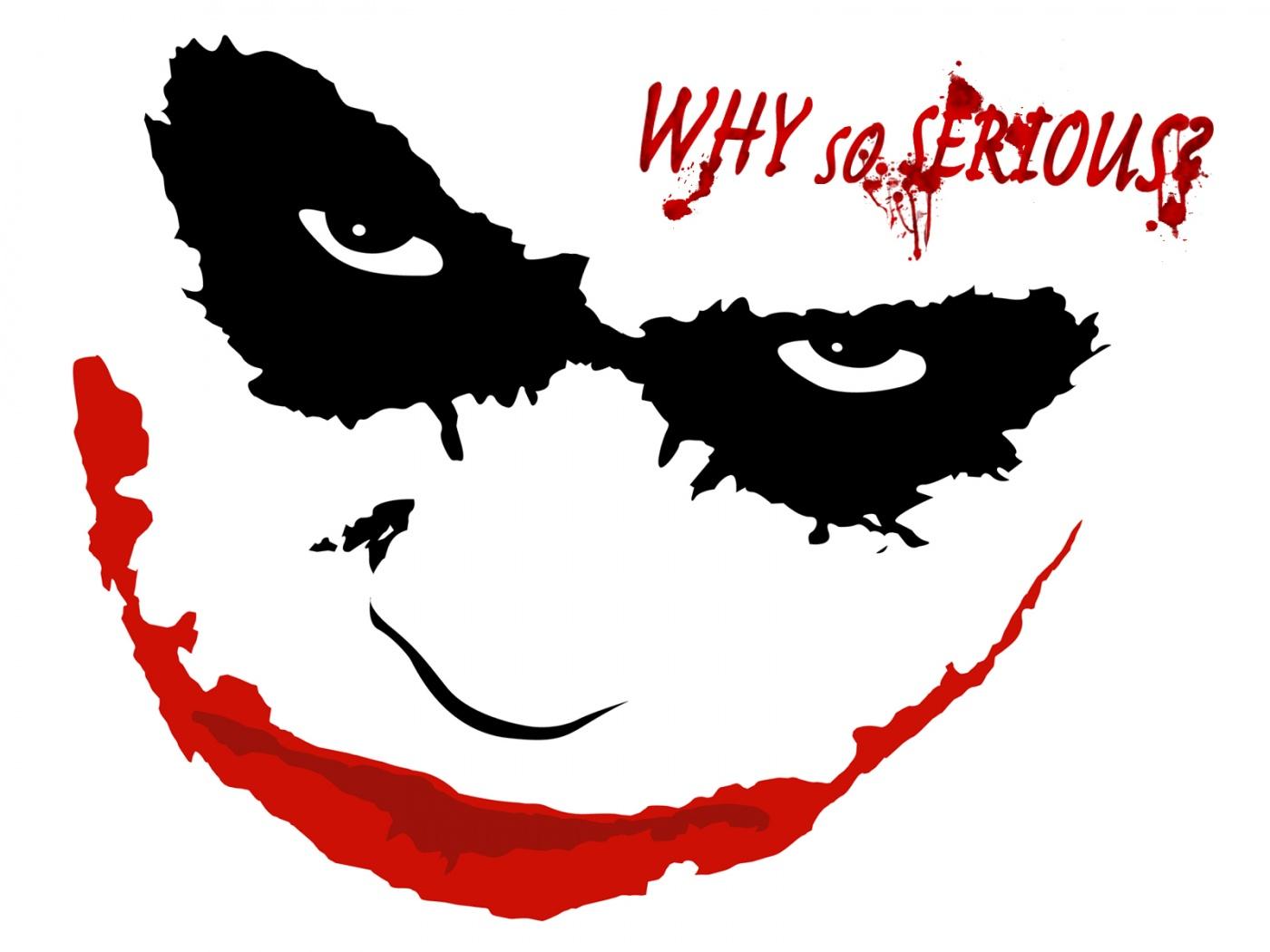 Why So Serious Joker Face Logo Free Image