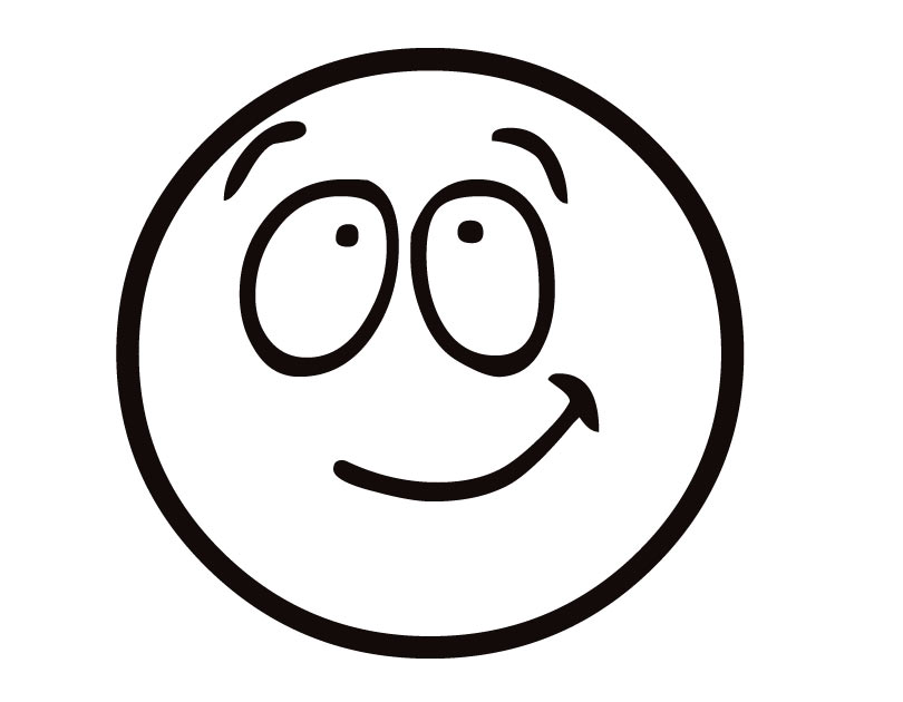 Coloring Page, Smiley Face Free Image