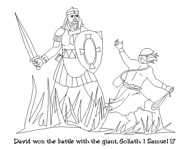 David Amp Goliath Coloring Pages Free Image