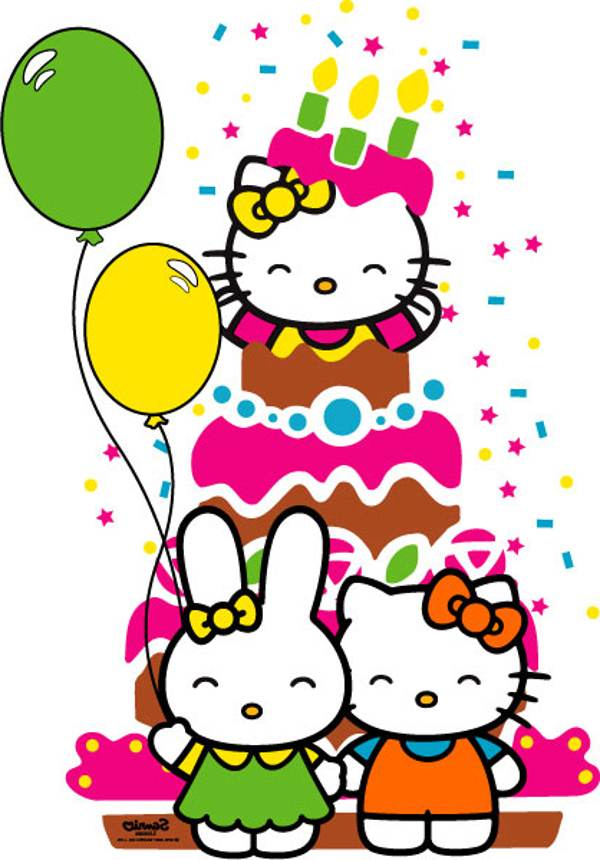 Super Hello Kitty Happy Birthday Card Drawing Free Image Personalised Birthday Cards Bromeletsinfo
