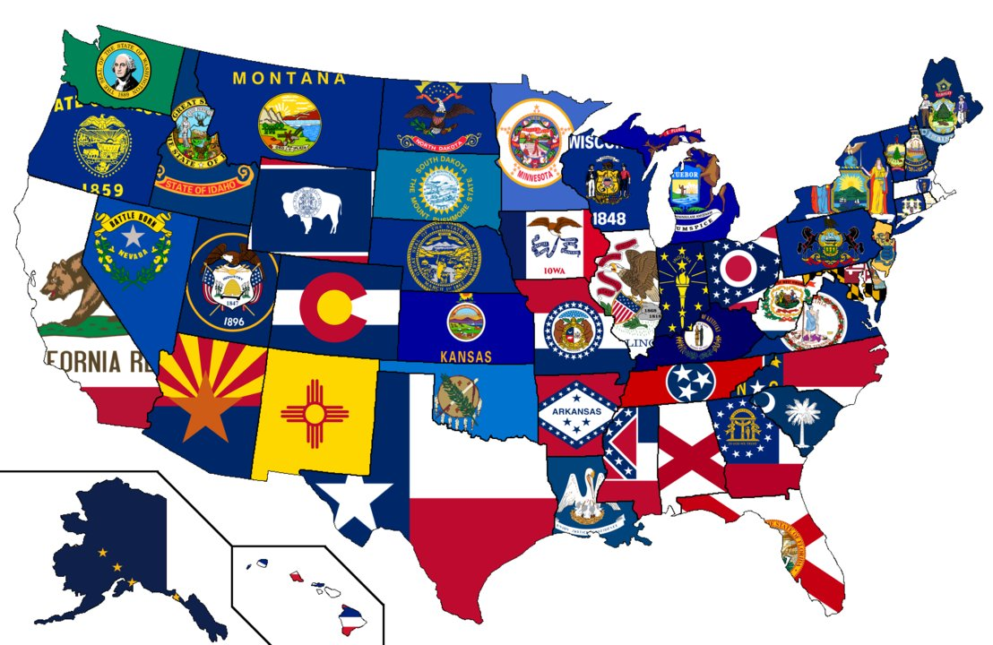 United States Map With Flag free image