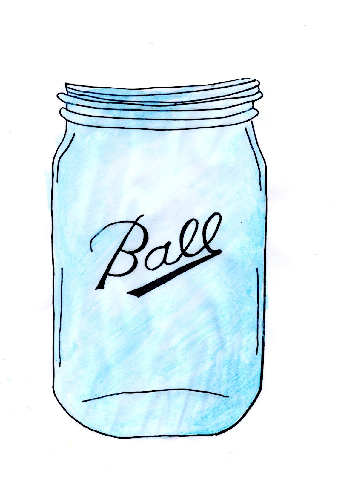 Mason jar teal. Clip art n free