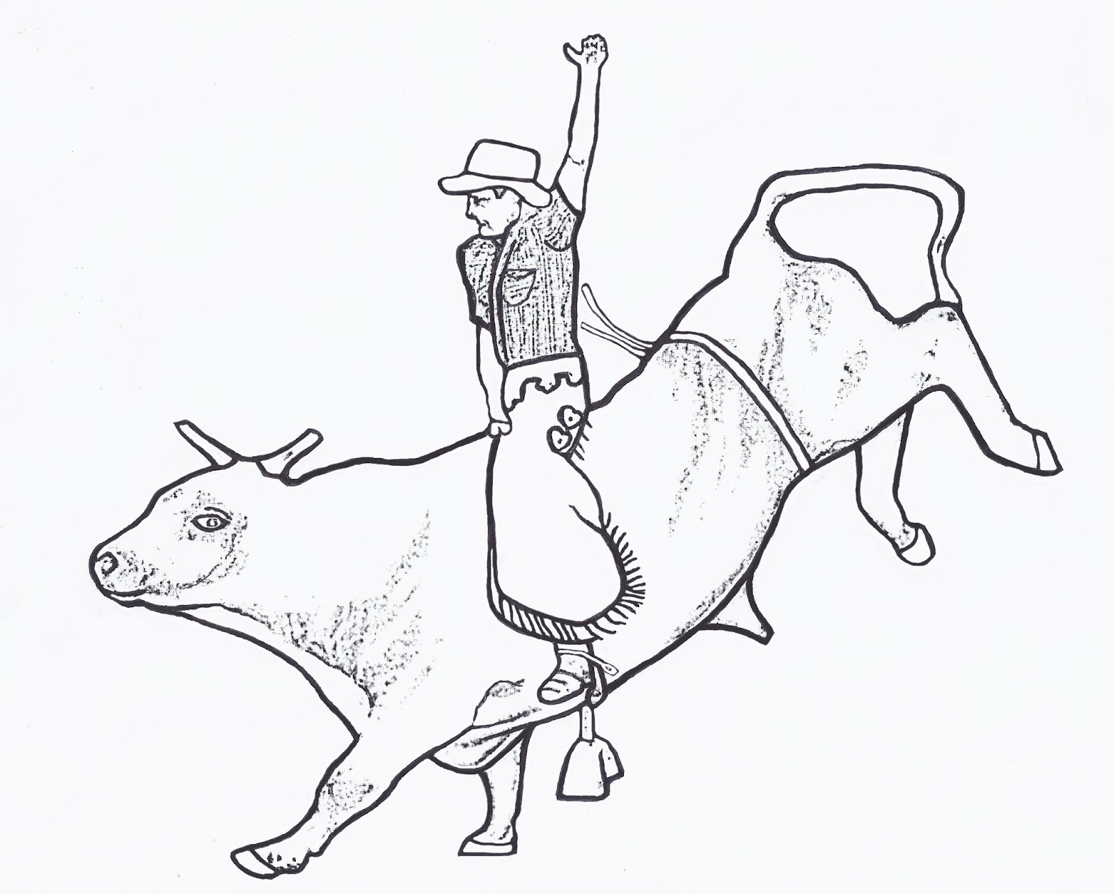 Bull Riding Coloring Pages free image