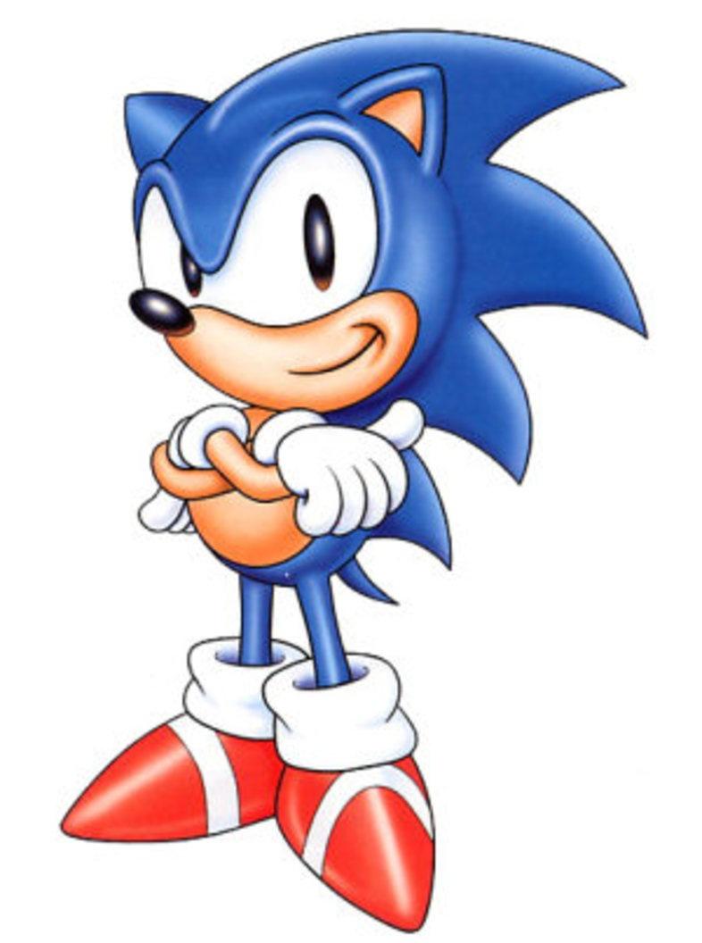 Classic Sonic Hedgehog Drawing Free Image