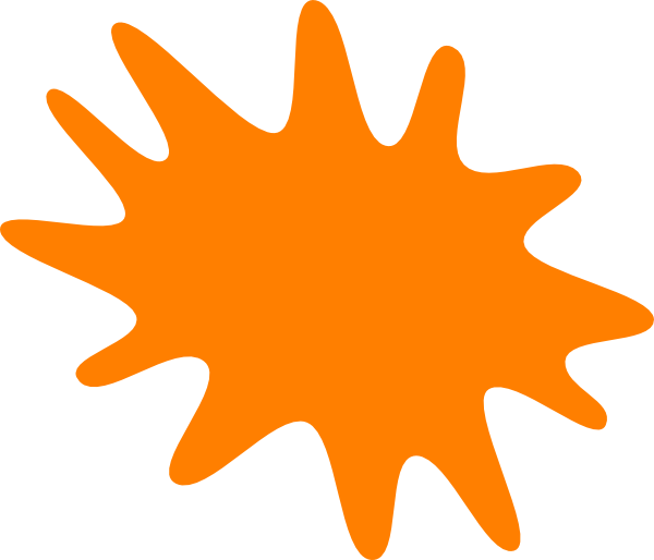 Paint splatter orange. Clip art n free