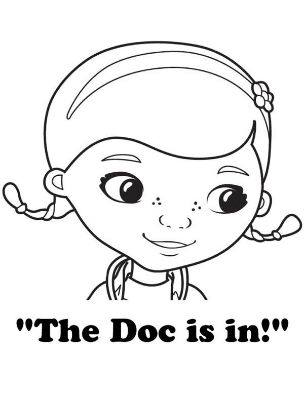 Doc Mcstuffins Coloring Pages Free Image
