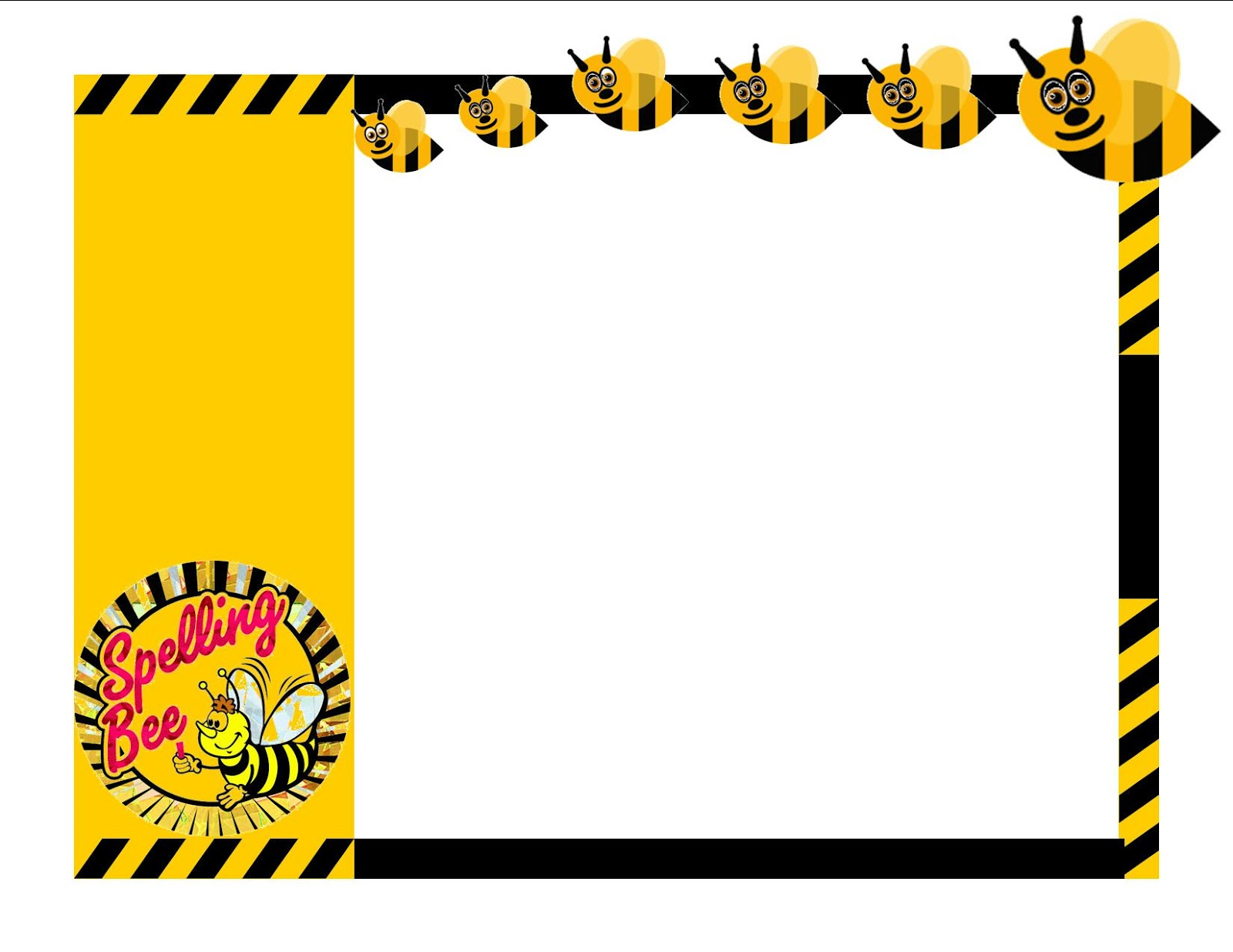Free printable spelling bee blank award certificates templates.