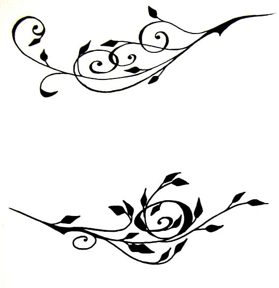 Rose Vine Tattoo Designs Free Image