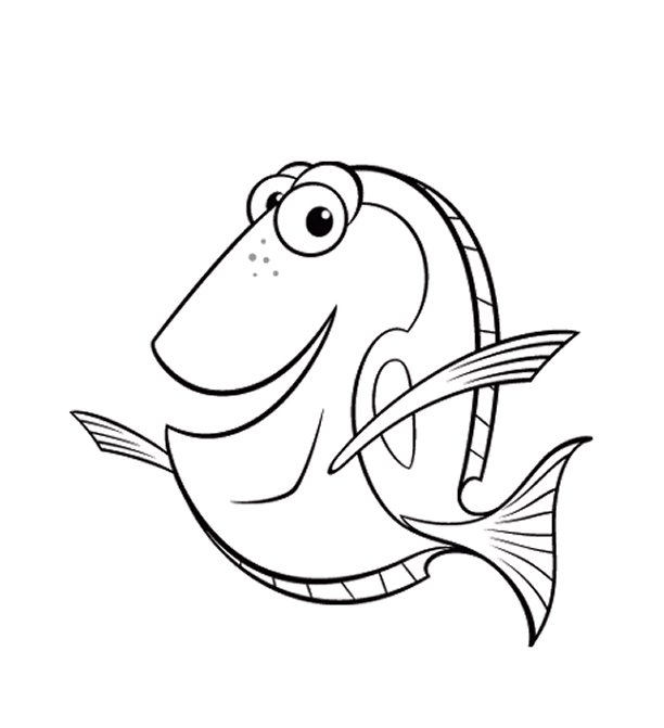 - Dory Finding Nemo Coloring Pages Free Image
