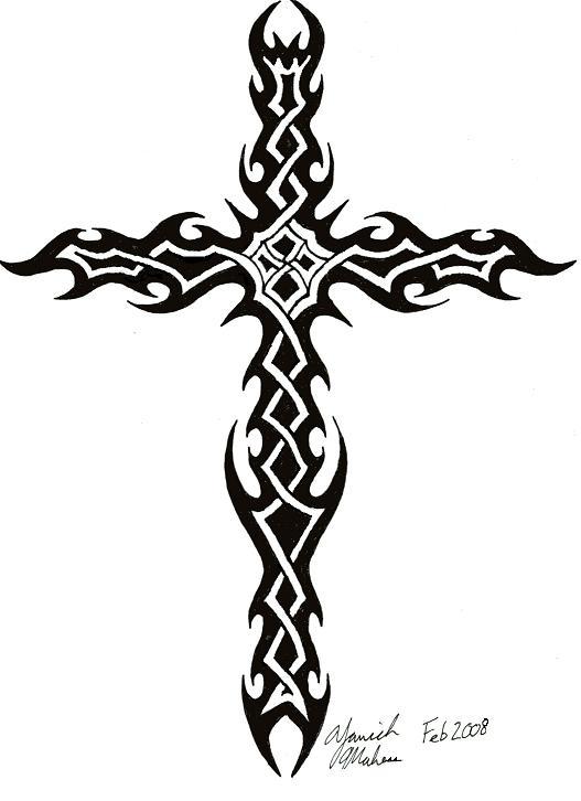 Cool Tribal Cross Tattoo Designs Free Image