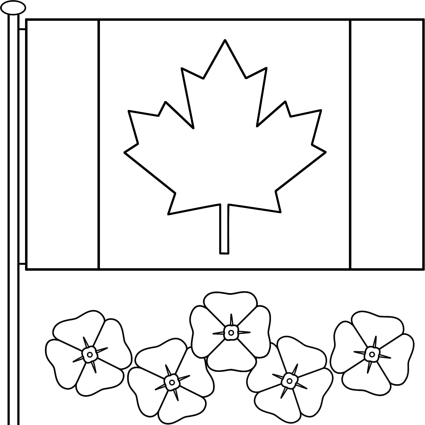 Flag Day Coloring Pages | 1391x1391
