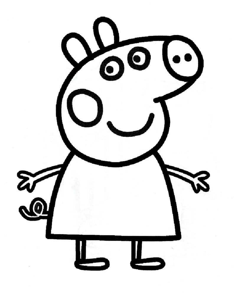 Disegno Di Peppa Pig Da Colorare.Disegno Di Peppa Pig Da Colorare Free Image