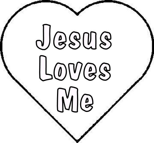 Jesus Loves Me Coloring Pages free image
