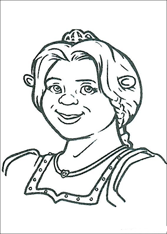 Shrek Coloring Pages Free Image