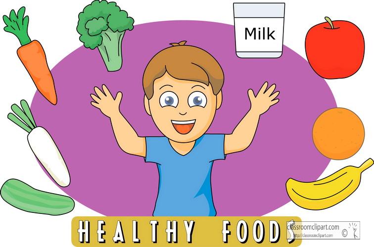 Kids Eating Healthy Food Clip Art N2 Free Image