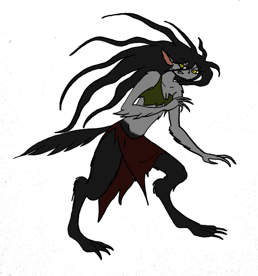 Scary Werewolf Monster Drawing Free Image