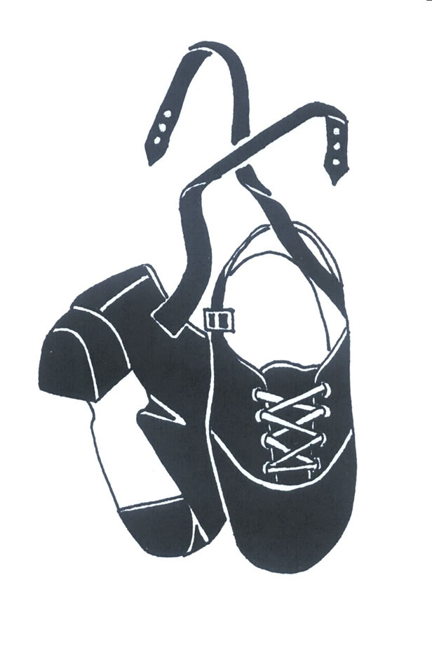 Irish Dance Shoes As A Graphic Illustration Free Image