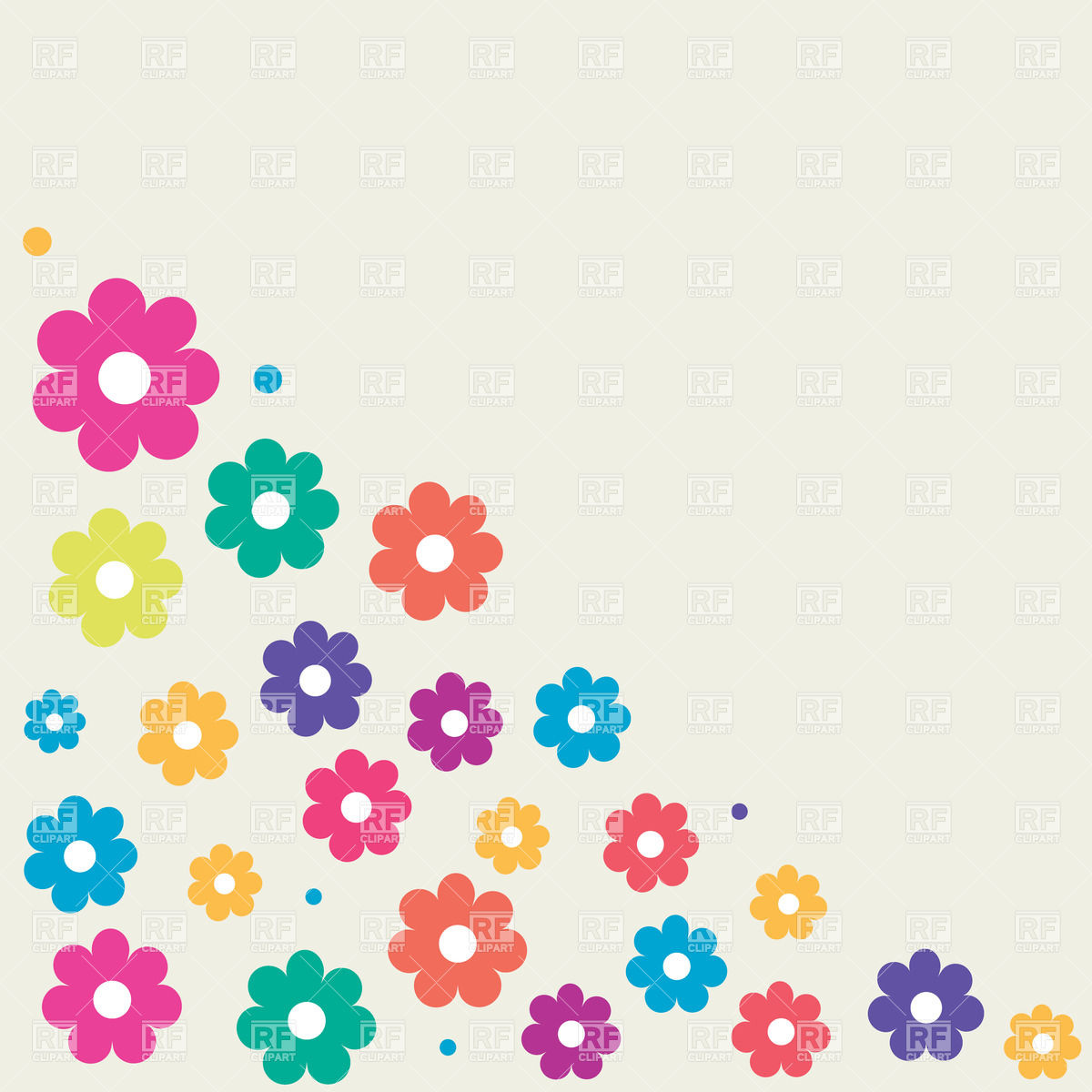 A Lot Of The Colorful Cartoon Flowers Clipart Free Image