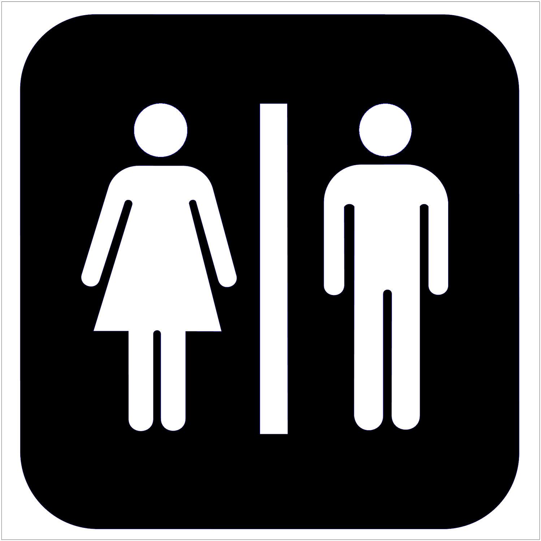 Unisex Bathroom Sign Drawing Free Image