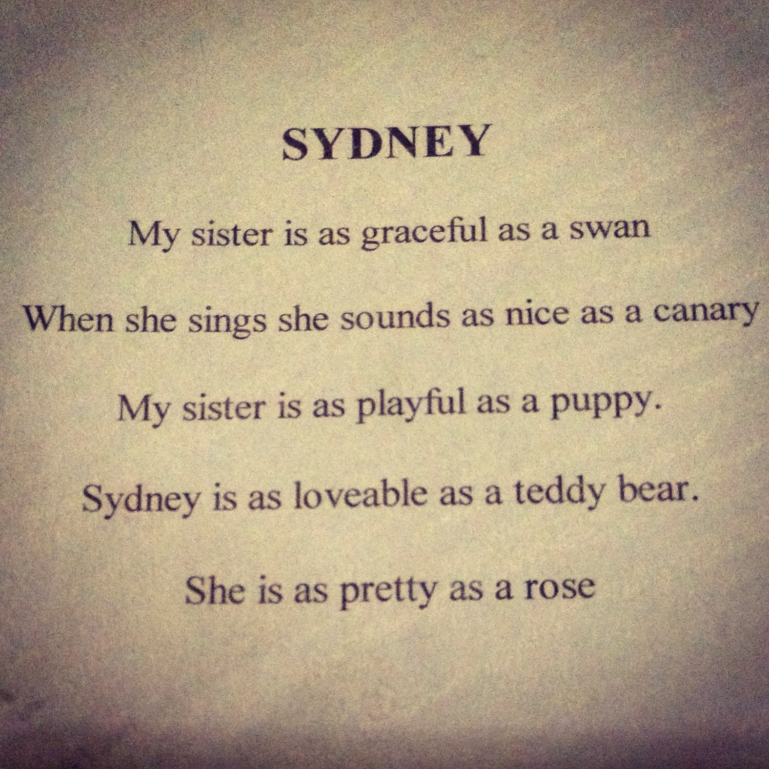 I Love My Sister Poems Free Image