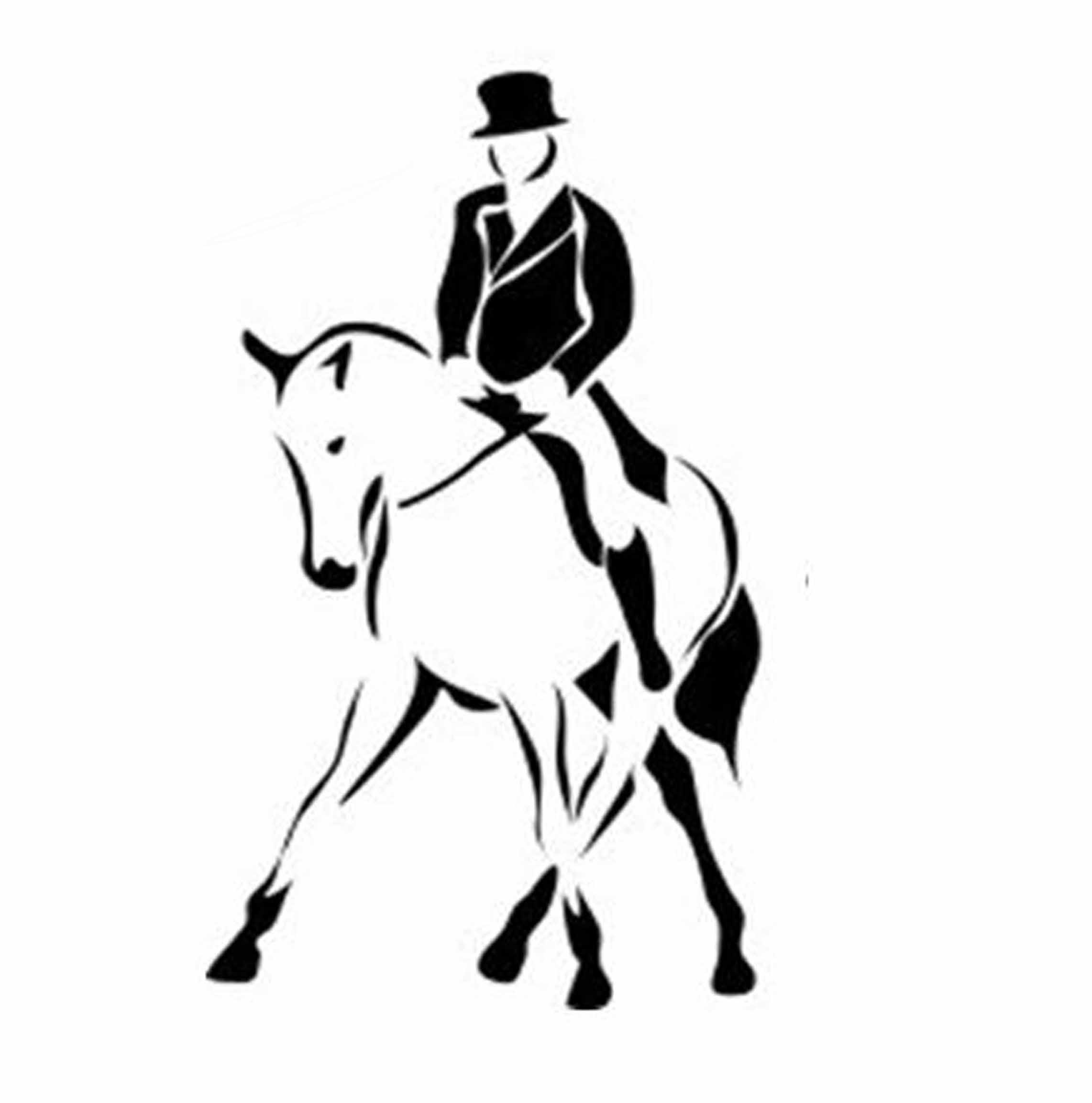 Dressage Horse Rider Silhouette Clip Art Free Image