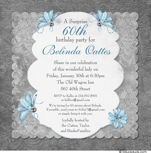 60th Birthday Party Invitation Wording Free Download