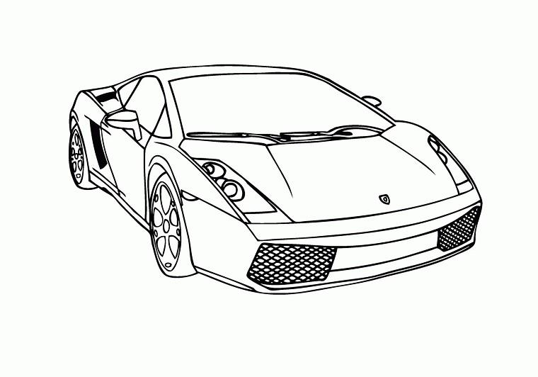 Coloriage Voitures Lamborghini A Imprimer Gratuit Free Image