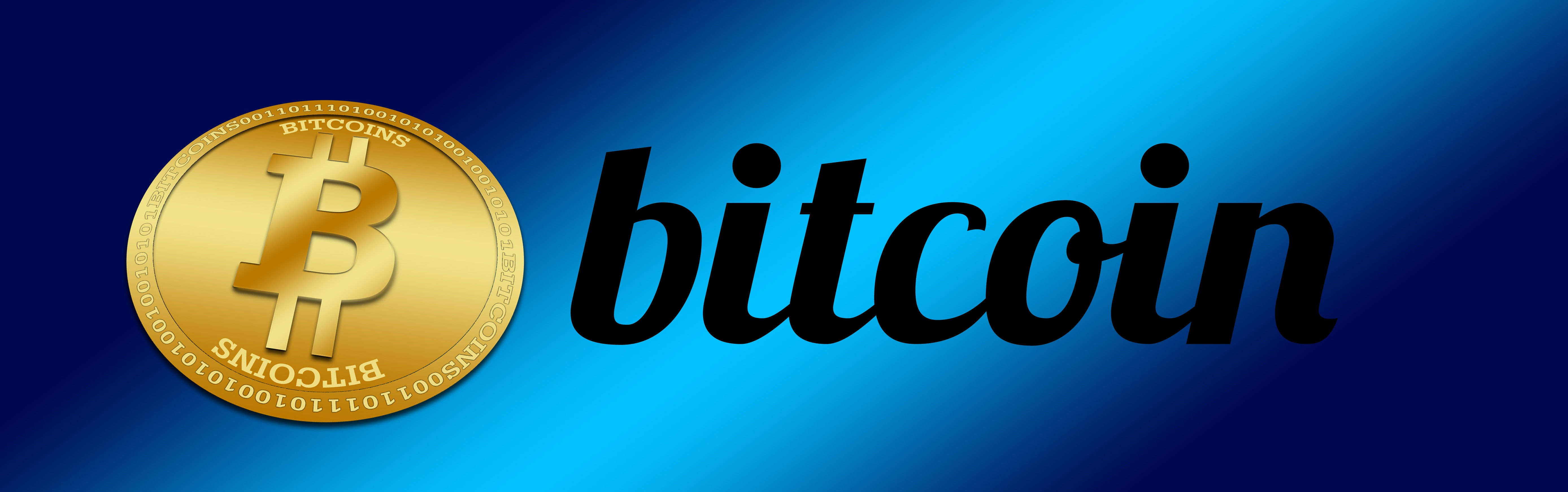 Oval Bitcoin Logo With A Blue Background Free Image Download