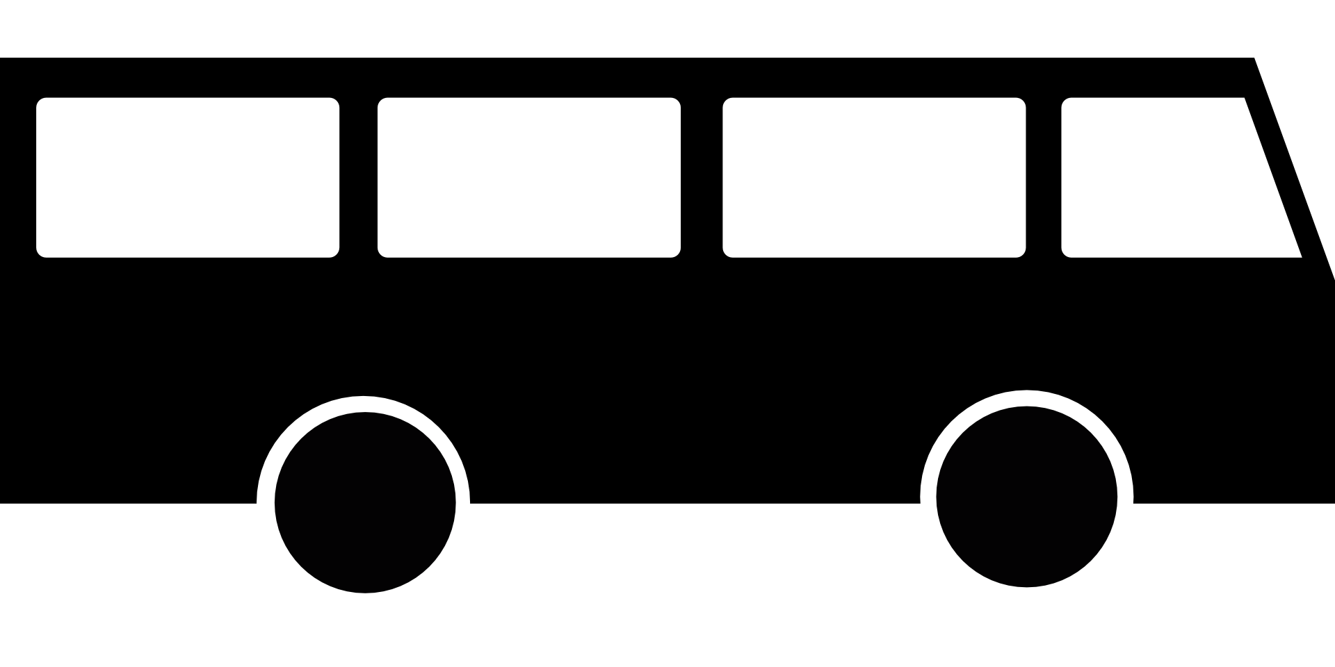 Black Bus Abstract Icon Free Image