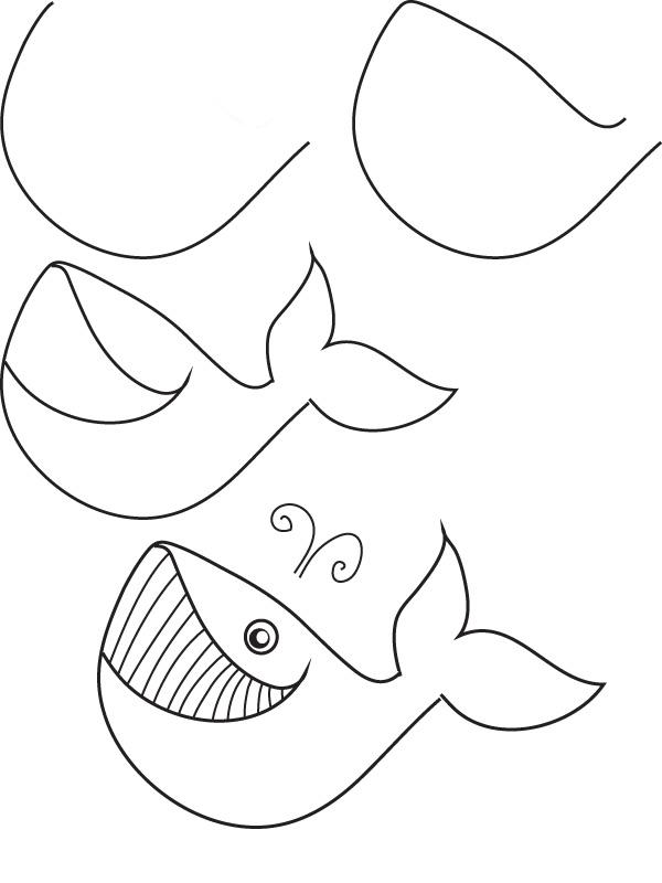 Sea Animals Pencil Drawing Free Image