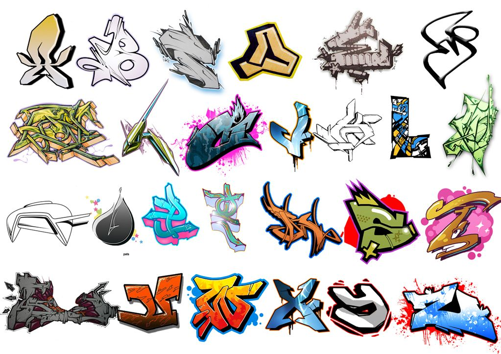 Cool Graffiti Alphabet Colorful Letters Free Image