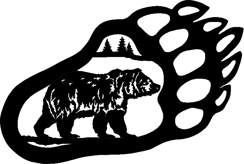 Grizzly Bear Paw Print Drawing Free Image