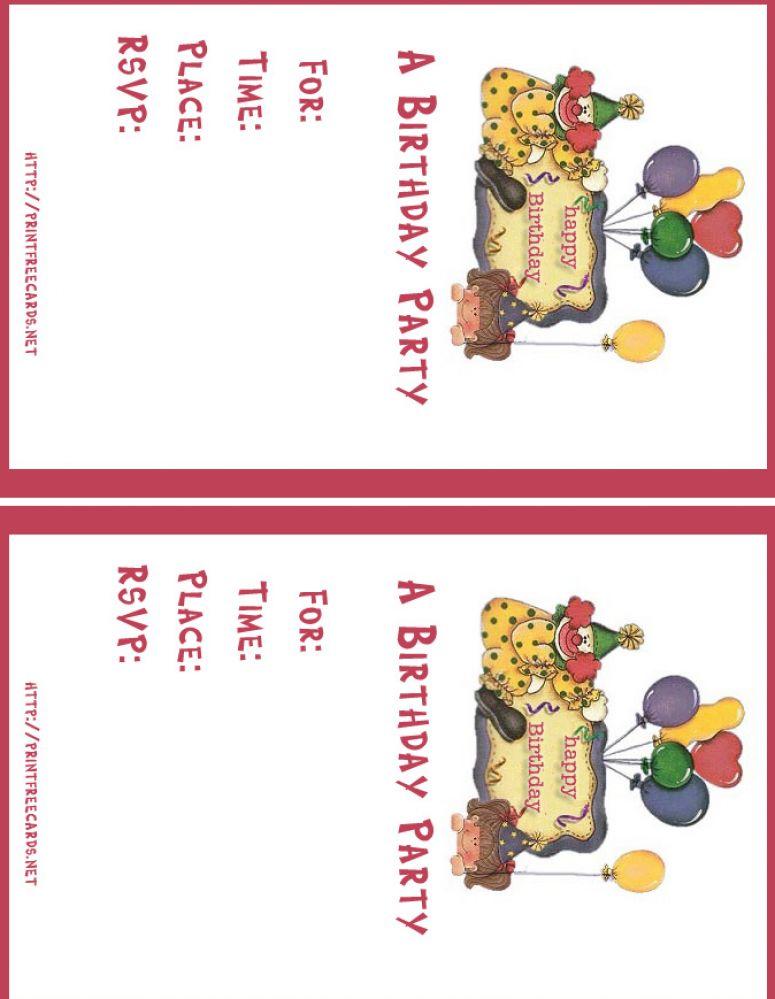 Free Printable Birthday Invitations Boy Download