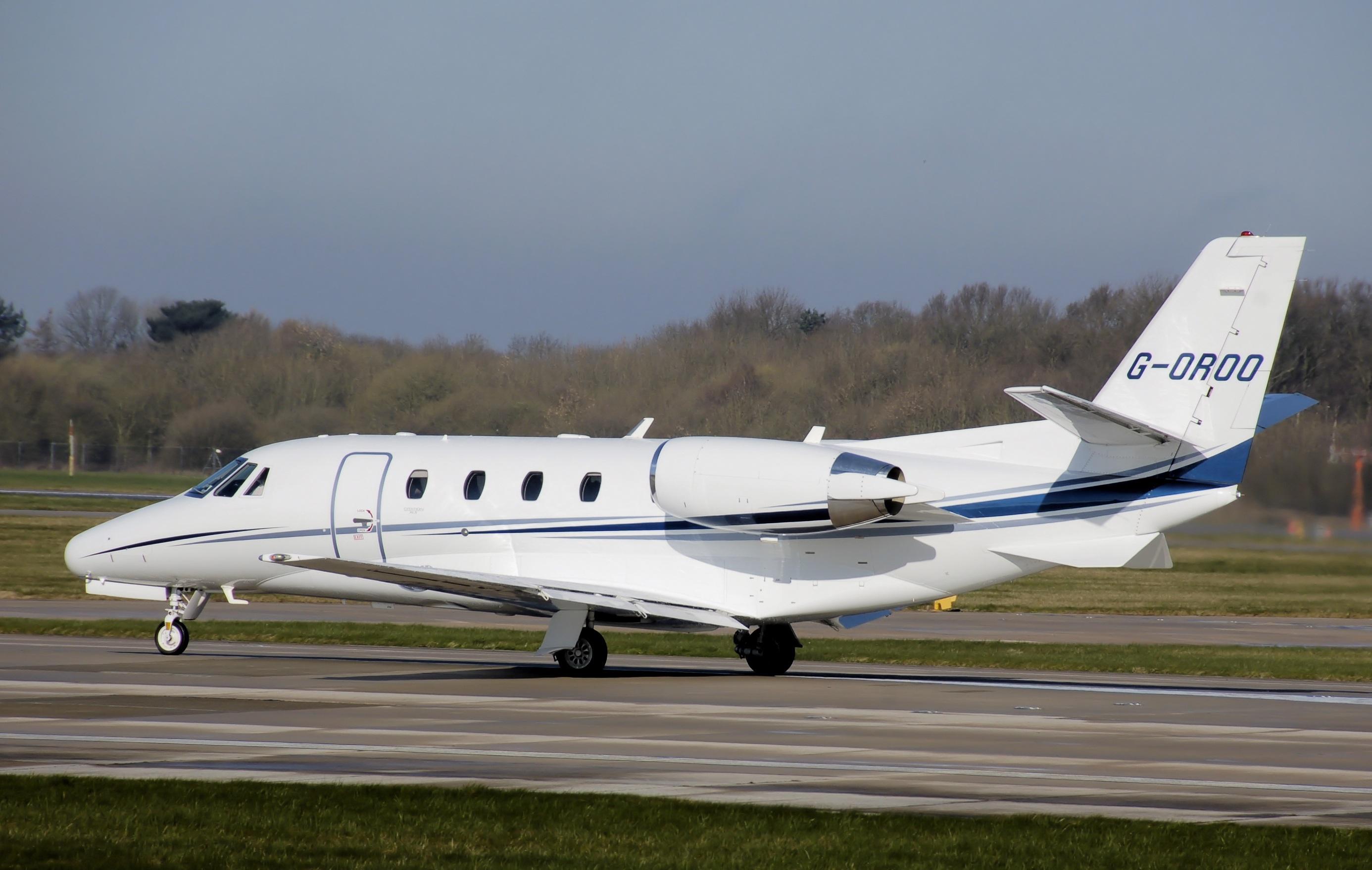 Photo Of White Cessna Citation Xls Aircraft Free Image