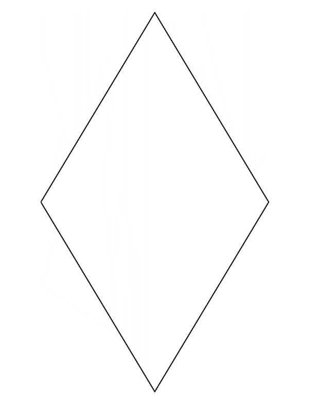 picture regarding Diamond Template Printable called Diamond Condition Template Printable cost-free picture