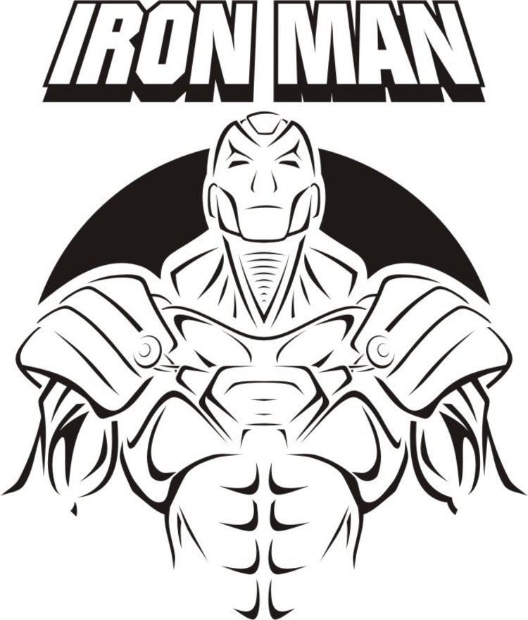 Iron Man Coloring Pages Drawing Free Image