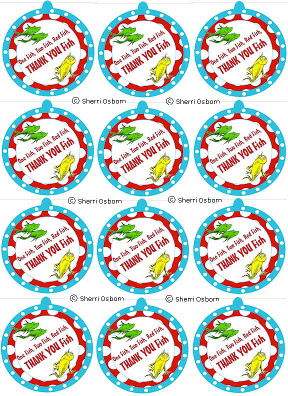 photo about Dr.seuss Fish Printable named Dr Seuss Fish Bowl Printable free of charge graphic