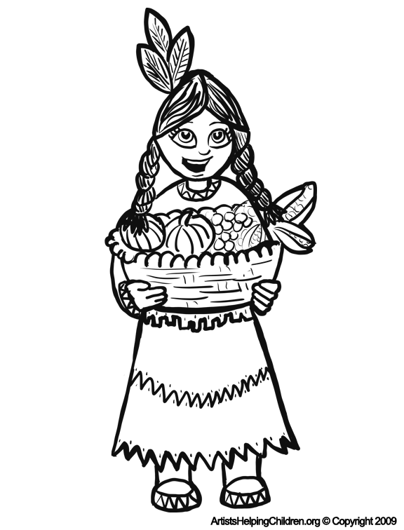 Native American Coloring Pages Printable Free Image