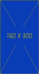 Placeholder 160x300 with frame and crosshairs