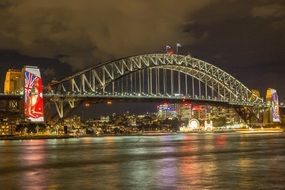 Sydney's biggest bridge sydneyharbour at night