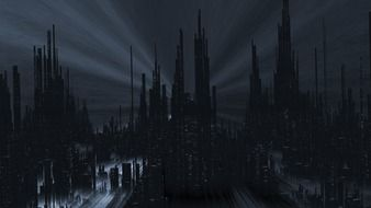 abstrack dark metropolis, illustration