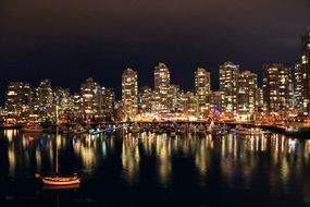 vancouver night water