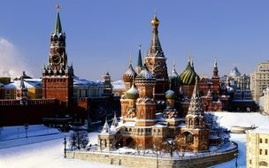 the kremlin winter moscow city