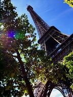 low angle view of eiffel tower, france, paris
