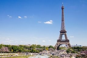 Eiffel tower is a iconic landmark in Paris France