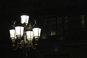 street light night city